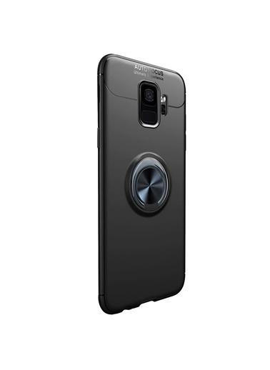 Microsonic Samsung Galaxy S9 Kılıf Kickstand Ring Holder Siyah